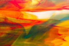Textura macra del vitral Fotos de archivo