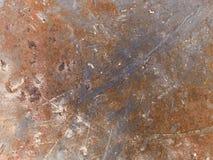 Textura macra - metal - aherrumbrada Fotografía de archivo libre de regalías