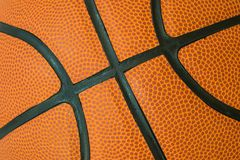 Textura macro do basquetebol Fotografia de Stock