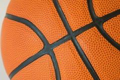 Textura macro do basquetebol Fotografia de Stock Royalty Free