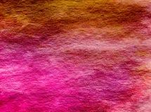 Textura magenta do fundo da lavagem da aquarela de Umbre do amarelo do rosa quente Imagem de Stock Royalty Free