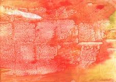 Textura manchada da aquarela do amarelo de tomate imagem de stock royalty free
