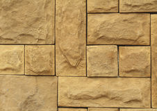 Textura marrón de las tejas de la pared de piedra del Grunge Marrón natural de la pared, anaranjado Fotografía de archivo libre de regalías