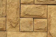 Textura marrón de las tejas de la pared de piedra del Grunge Marrón natural de la pared, anaranjado Imagen de archivo