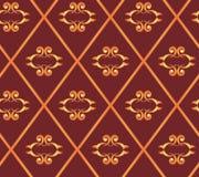 Textura marrón inconsútil con los Rhombus Fotos de archivo libres de regalías