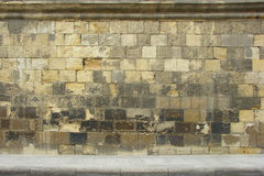 Textura medieval velha da parede Fotografia de Stock Royalty Free