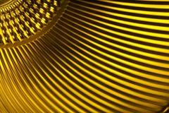 Textura metálica amarela Fotos de Stock Royalty Free