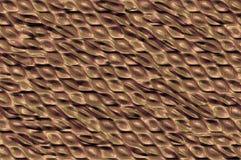 Textura metálica brillante de las células - bronce. Fotografía de archivo libre de regalías