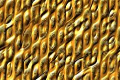Textura metálica brillante de las células - de oro. Foto de archivo libre de regalías