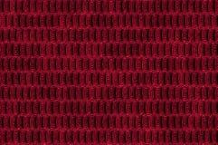 Textura metálica brillante de las células - rojo. Imagen de archivo libre de regalías