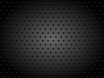 Textura metálica con los agujeros Imagenes de archivo