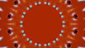 Textura metálica de la placa pintada en rojo con los agujeros ilustración del vector