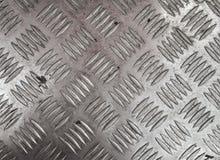 Textura metálica de prata Imagens de Stock
