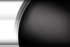 Textura metálica 004 del fondo del elemento del acero y del panal libre illustration