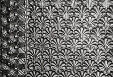 Textura metálica floral natural Arquitetura Fotos de Stock