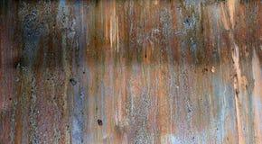 Textura metálica manchada danificada da placa Fotografia de Stock Royalty Free