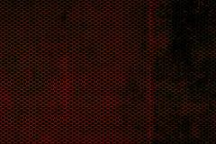 Textura metálica preta e vermelha do fundo da malha Foto de Stock