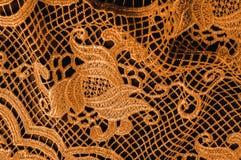 Textura, modelo el cordón de la tela es de oro, pardusco-amarillo Shinni Imagen de archivo libre de regalías