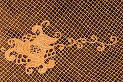 Textura, modelo el cordón de la tela es de oro, pardusco-amarillo Shinni Imagen de archivo