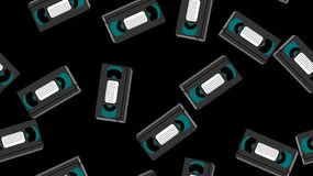 Textura, modelo inconsútil de las cintas de video análogas antiguas grises de la película del inconformista de los vinos retros v stock de ilustración