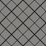 Textura monocromática con los cuadrados, líneas, rejilla diagonal, enrejado, rayas, tejas de la repetición libre illustration