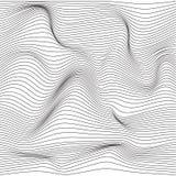 Textura monocromática torcida de la onda stock de ilustración