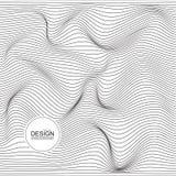 Textura monocrom?tica torcida de la onda stock de ilustración