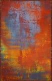 Textura multicolora del metal con Rusty Seams Along Edges fotografía de archivo libre de regalías