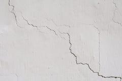 A textura na parede branca Fotografia de Stock