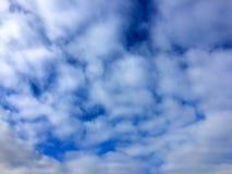 Textura natural de nubes en el cielo Foto de archivo libre de regalías