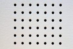 Textura natural del cuero blanco Fotografía de archivo