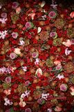 Textura natural hermosa de la pared de la flor Foto de archivo libre de regalías