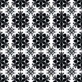 Textura negra abstracta inconsútil del ornamento del modelo en fondo negro Fotografía de archivo libre de regalías