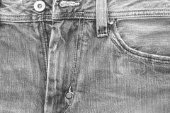 Textura negra de la mezclilla Imagen de archivo