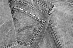 Textura negra de la mezclilla Foto de archivo libre de regalías