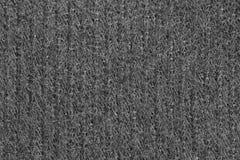 Textura negra de la tela, fondo Foto de archivo