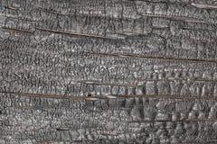 Textura negra de madera quemada Imagen de archivo
