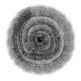 Textura negra del círculo del acoplamiento de alambre Foto de archivo libre de regalías