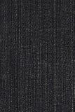 Textura negra del dril de algodón Fotos de archivo
