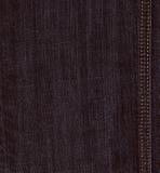 Textura negra del dril de algodón de los vaqueros Imagenes de archivo