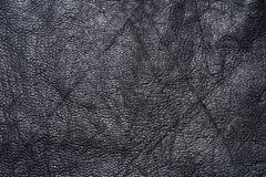 Textura negra del lether Imagen de archivo libre de regalías
