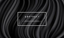 Textura negra, fondo del vector de onda libre illustration