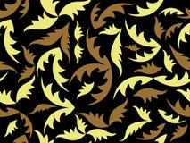 Textura negra inconsútil con las hojas Imágenes de archivo libres de regalías