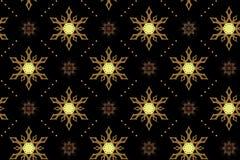 Textura negra inconsútil con los copos de nieve Foto de archivo libre de regalías