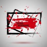 Textura negra y roja del ejemplo del Grunge de la pintura del espray, fondo para crear efecto Diseño moderno Fotos de archivo