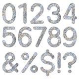 Textura 0 9 numéricos da parede de pedra da fonte Imagens de Stock