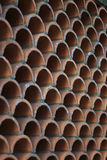 Textura o fondo abstracta de Terra Cotta Wall modelada Fotos de archivo libres de regalías