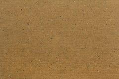 Textura o fondo amarilla del papel del cartón Foto de archivo libre de regalías