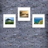 textura o fondo, color gris de la pared de ladrillo adorne brickwo Imágenes de archivo libres de regalías