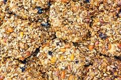 Textura o fondo de la torta del cereal Fotografía de archivo libre de regalías